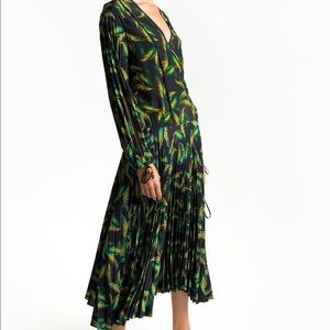 Gorgeous A.L.C. Brooks printed silk midi dress-2